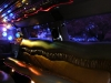 Lincoln Navigator Limo interior with laser lights