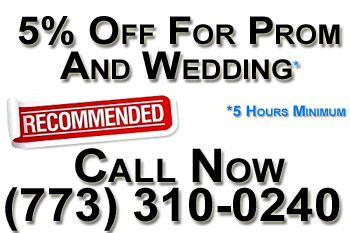5off coupon for chicago wedding limousine and chicago prom limo